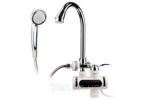 Кран-водонагреватель проточный AQUATICA (JZ-6C141W) JZ 3.0кВт 0,4-5бар для ванны гусак ухо на гайке