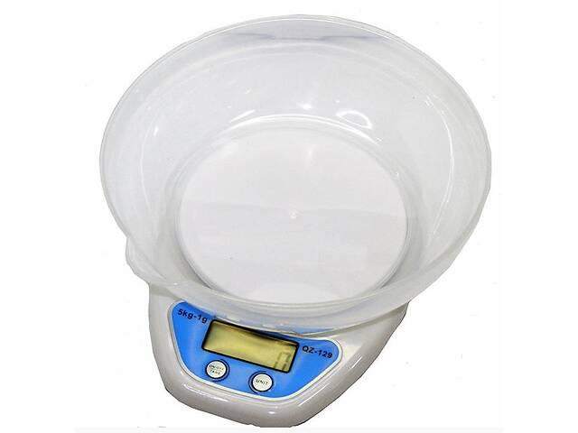 купить бу Кухонные весы Kronos Qz-129 до 5 кг с чашей и подсветкой (bks_01326) в Киеве