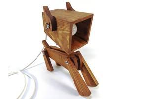 Лампа трансформер настольная Собака коричневый