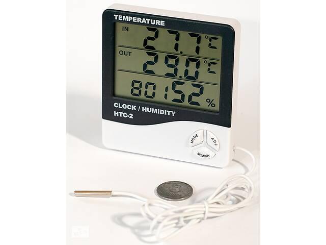 Метеостанция HTC-2, гигрометр, часы, будильник, календарь, термометр