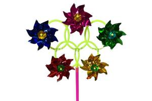 Набір Вітрячок 5 квіточок (10 шт) DZ243