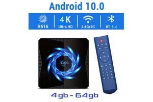 Нова модель Смарт ТВ приставки X96Q MAX 4гб / 64гб на Андроїд 10 для перегляду фільмів телебачення серфінгу в інтернеті
