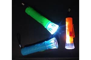 Новый LED  фонарь с батарейками