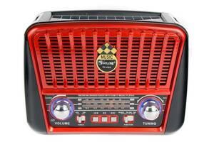 Портативная колонка MP3 USB Golon RX-456S Solar с солнечное панелью Black-Red (gr005683)