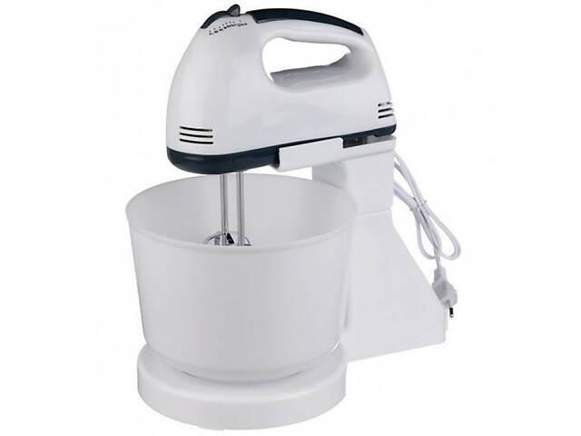 купить бу Стационарный электрический ручной миксер Crownberg кухонный миксер с насадками для замешивания крутого теста в Харкові
