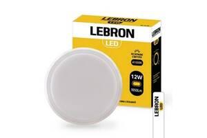 Светильник настенно-потолочный LEBRON LED L-WLR-S 12W 4100K 1050LM 140° круг с датчиком движения