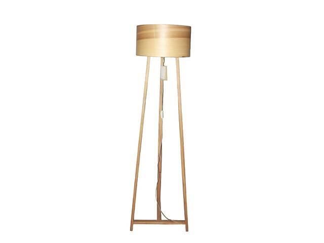 Торшер напольный в стиле лофт деревянный Woodidea Floor lamp Eco XL 1.7 м Бежевый (wdi_t1xl)- объявление о продаже  в Киеве