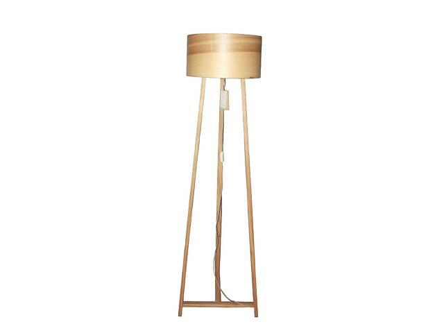Торшер напольный в стиле лофт деревянный Woodidea Floor lamp Eco XXL 1.8 м Бежевый (wdi_t1xxl)- объявление о продаже  в Киеве