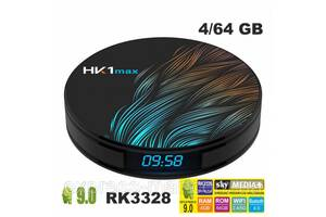 Цифровая приставка HK1 MAX 4GB/64GB Android 9.0, TV Box приставка, Медиаплеер