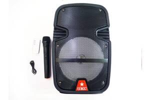 """UKC HS-008BT 8"""" Беспроводная портативная bluetooth колонка - чемодан с караоке"""