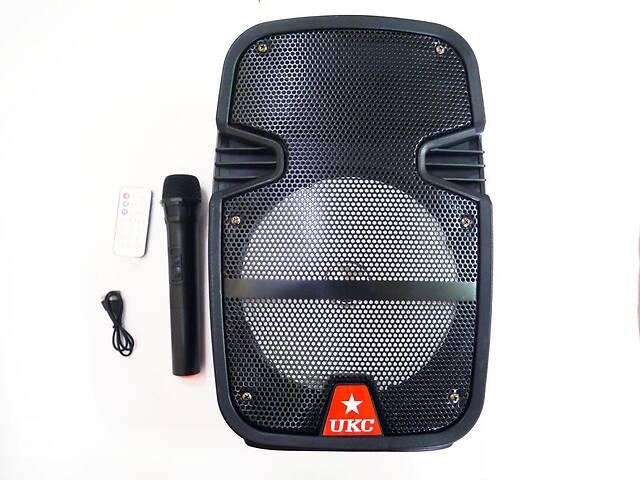 """купить бу UKC HS-008BT 8"""" Беспроводная портативная bluetooth колонка - чемодан с караоке в Одессе"""