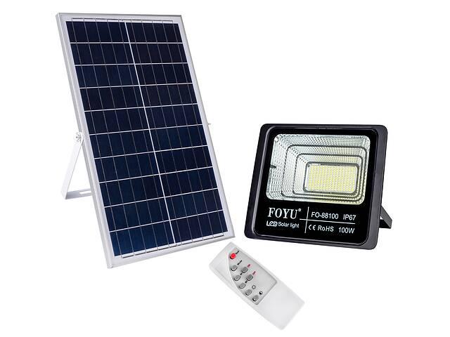 купить бу Уличный прожектор на солнечной батарее FOYU 100 Вт (FO-88100) в Киеве