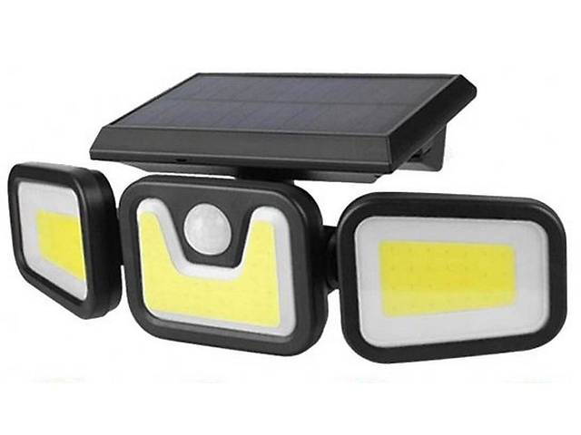 Вуличний потрійний світильник на сонячній батареї з датчиком руху Fl-1725b- объявление о продаже  в Харкові