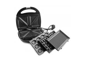 Мультимейкер 4в1 электрическая вафельница орешница седвиница бутербродница бельгийская вафля мультипекарь