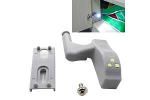 Вбудована світлодіодне LED підсвічування для шаф на меблеві петлі