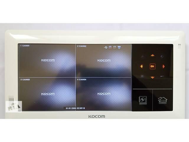 Видеодомофон цветной на 4 камеры Kocom KVR-A510 white- объявление о продаже  в Ужгороде