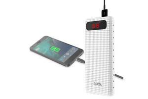 Зарядное устройство повер банк аккумулятор Power bank HOCO B20A Mige 20000mAh с двойным LED фонариком Белый