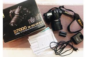 б/в Дзеркальні фотоапарати Nikon D7000 Kit (18-105 VR)