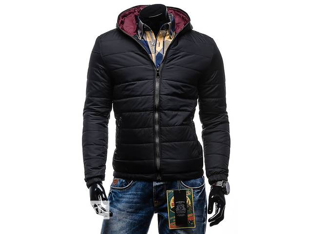 продам Черная дутая зимняя куртка на синтепоне бу в Черкассах