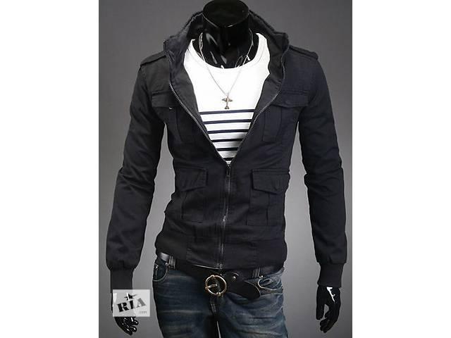 Чёрная куртка с карманами на кнопках.- объявление о продаже  в Черкассах
