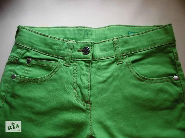 Джинсы для девочки зеленые