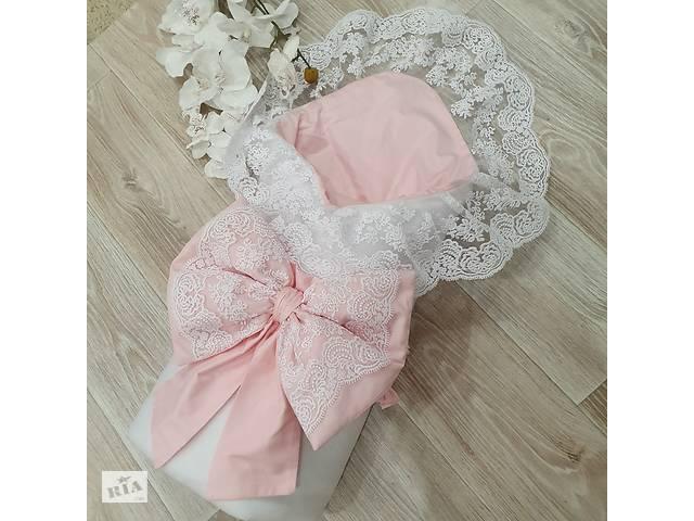 """продам Конверт-плед демисезонный """" кружево светло розовый """" бу в Одесі"""