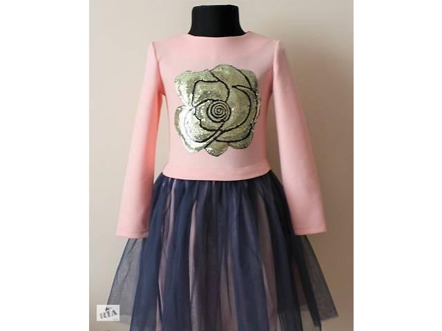 купить бу Ошатне дитяче плаття з фатином і паєтками для дівчинки в Запоріжжі 8691f4d9b71cb