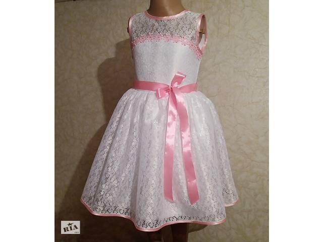 бу Нежная детская платье с розовой лентой, модель № 67 в Хмельницком