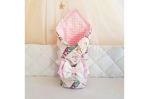 Плед Minky Совушки розовый
