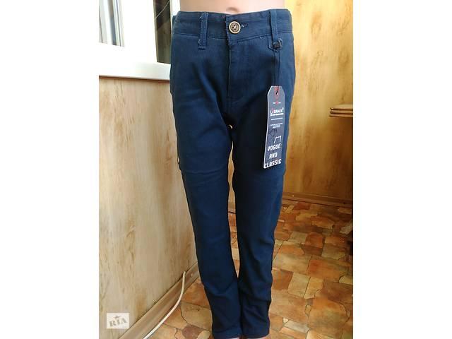 продам Темно сині Стрейч Котонові штани на хлопчика 6-12 років 116-152 зростання бу в Маріуполі (Донецькій обл.)