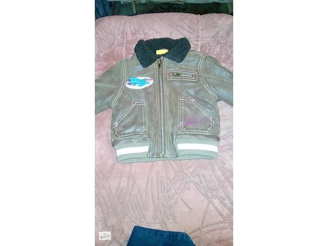 продам Зимняя кожаная курточка для малышей бу в Києві