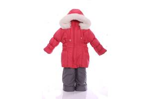 Зимний костюм для девочки Классика коралловый