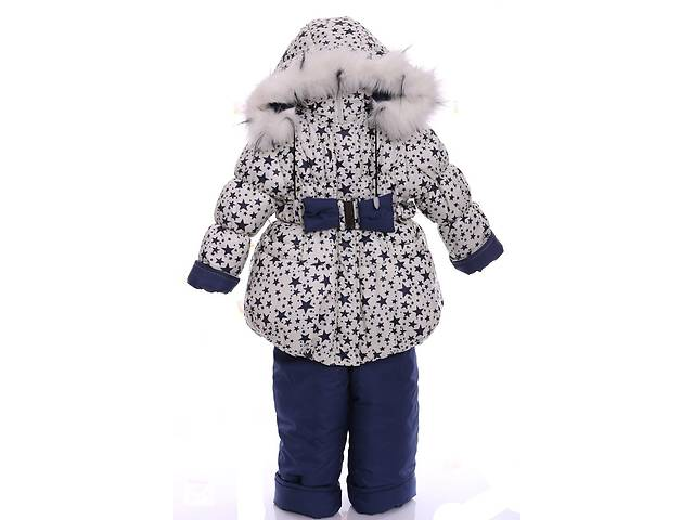 Зимний костюм для девочки Колокольчик с рисунком белый в звезду- объявление о продаже  в Одессе