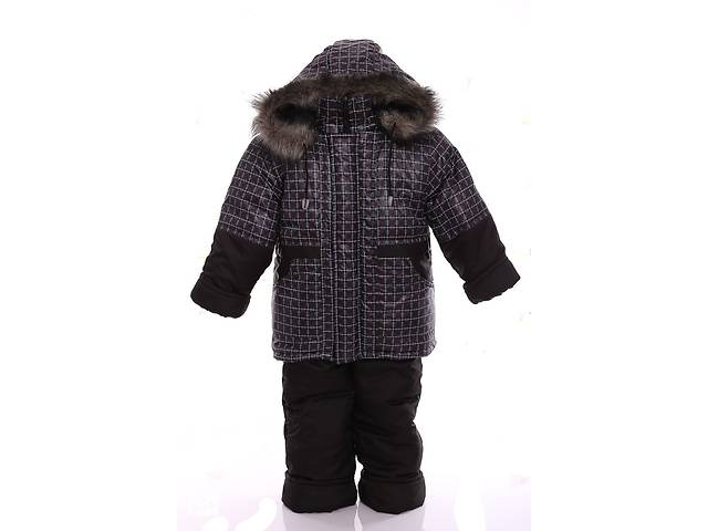 бу Зимний костюм для мальчика Классика с рисунком коричневый квадрат в Одессе