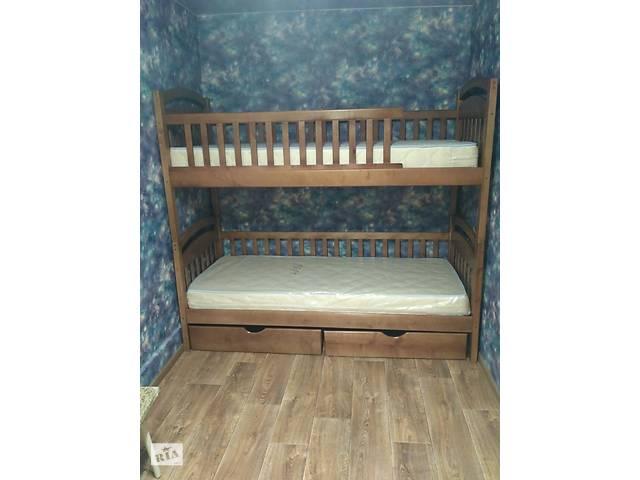 купить бу Акция!В наличии!Двухъярусная кровать Карина из массива! в Запорожье