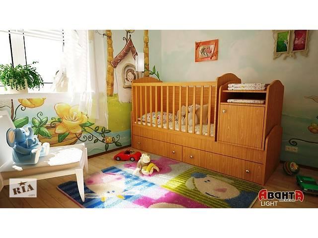 продам Детская кровать трансформер Аванта LIGHT (детская кровать + кровать для новорожденных + столик + ящик) бу в Киеве