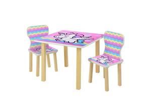 """Детский столик со стульчиками 508-65 """"Единорог"""""""