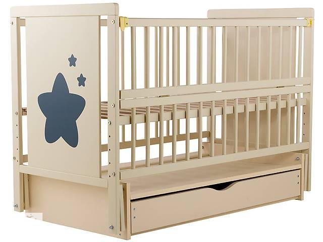 купить бу Кровать Babyroom Звездочка Z-03 маятник, ящик, откидной бок  бук слоновая кость в Одессе