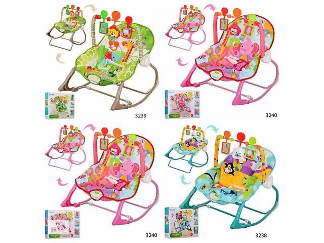 продам Шезлонг качалка Бемби 323 детский с вибро режимом Bambi стульчик бу в Одессе