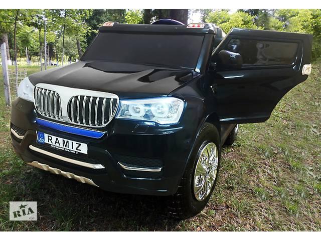 продам Дитячий електромобіль BMW S8088: надувні колеса, шкір.сидіння, 4 мотора і 2 акум-ра бу в Львові