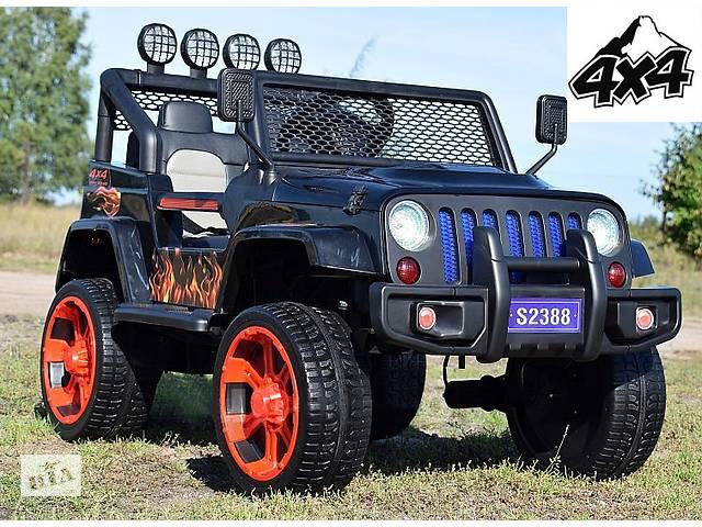 продам Дитячий електромобіль Jeep 4x4 повнопривідний на гумових колесах EVA бу в Львові