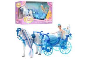 Карета для кукол 223A, с лошадью и куклой