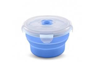 Контейнер-трансформер для еды Nuvita 6м+ 230мл. Синий (NV4466Blue)