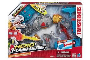 Разборная фигурка динозавр Гримлок с подсветкой - Electronic Grimlock, Mashers, Hasbro