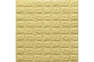 Самоклеющаяся 3D панель желто-песочный кирпич 700x770x7мм (9-7)
