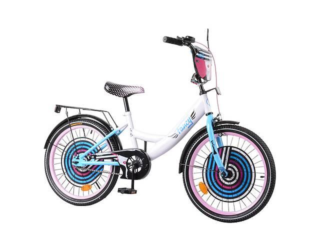 """купить бу Велосипед 2-х колёсный 20"""" TILLY Fancy T-220215 white + blue в Дубно"""