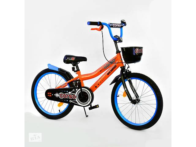 """бу Велосипед 20"""" дюймов 2-х колёсный R-20305 """"CORSO"""", ручной тормоз, звоночек, корзинка в Дубно"""