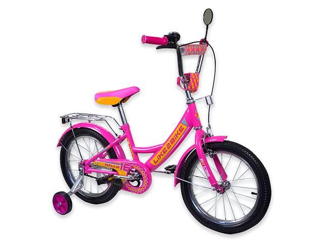 """купить бу Велосипед детский 2-х колёсный 16"""" 191618  Like2bike RALLY, фуксия в Чернігові"""