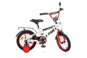 """Велосипед двухколесный Profi Flash 14"""" белый"""