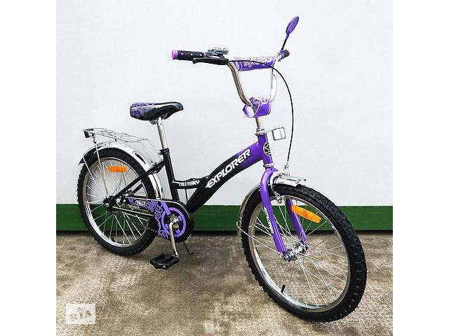 """купить бу Велосипед Tilly Explorer 20"""" T-22019 black + purple в Дубно"""